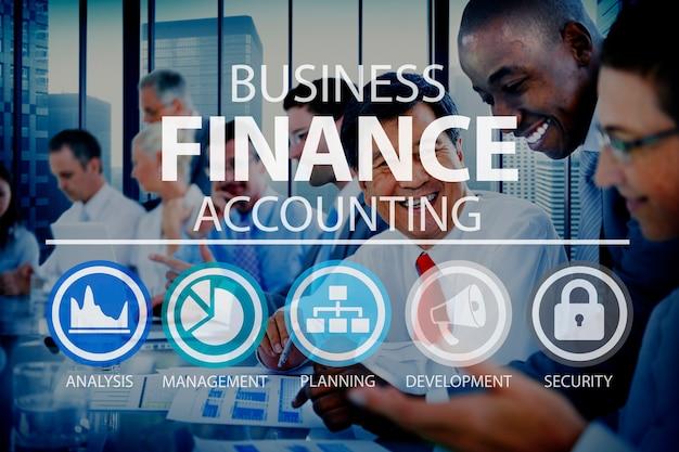 Concept de gestion d'analyse financière Photo gratuit