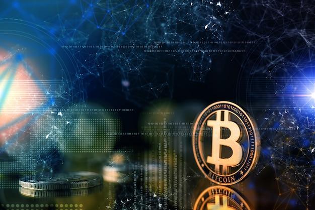 Concept d'idées de stratégie d'entreprise de chaîne de crypto-chaîne Photo Premium