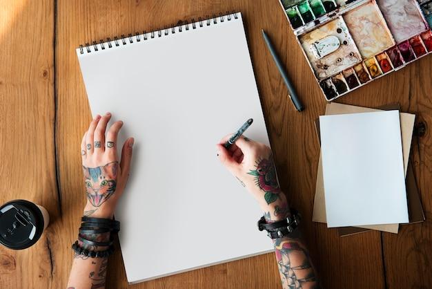 Concept d'inspiration de conception femme idées de tatouage Photo Premium