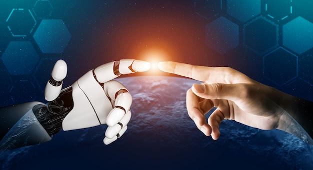 Concept D'intelligence Artificielle De Robot Futuriste. Photo Premium