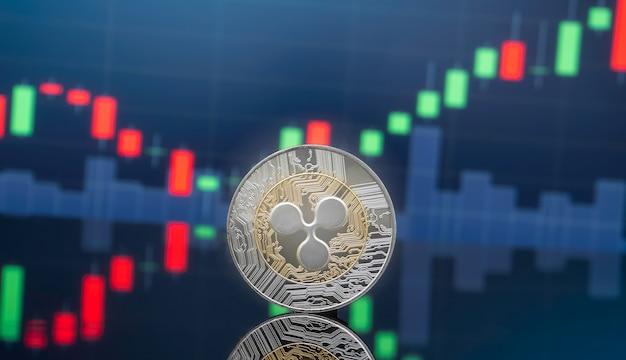 Concept d'investissement d'ondulation et de crypto-monnaie. Photo Premium