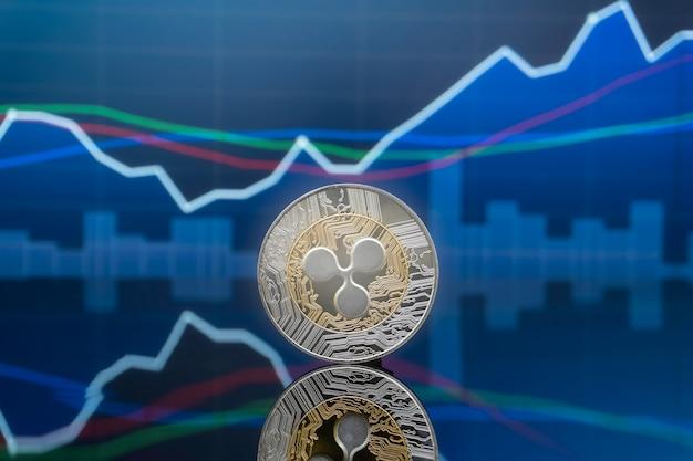 Concept D'investissement Ripple Et Crypto-monnaie. Photo Premium