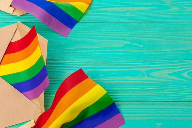 Concept Lgbtq, Symbole Gay, Message à Vous Photo Premium
