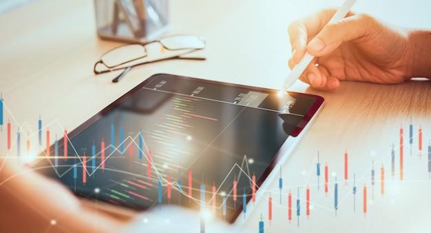 Concept de marché boursier Photo Premium