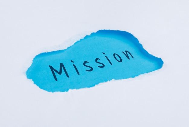 Concept De Marketing Avec Le Mot De La Mission à Plat. Photo gratuit