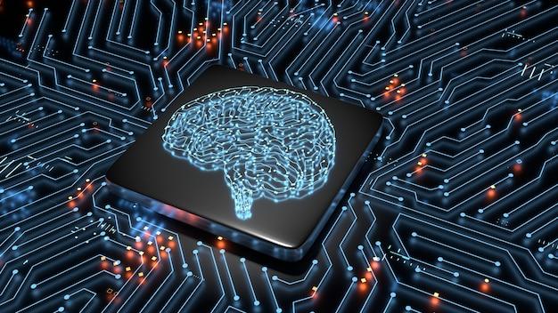 Concept De Matériel D'intelligence Artificielle. Photo Premium