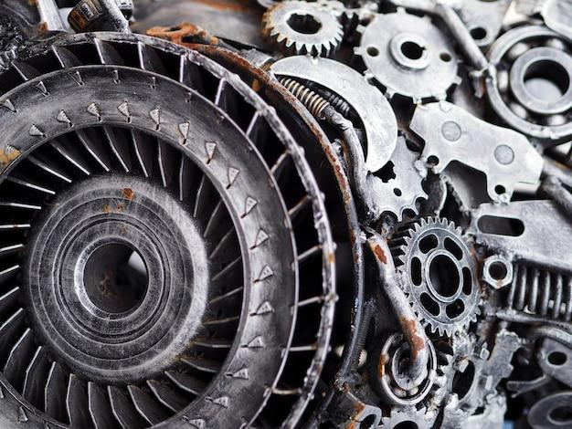 Concept mécanique des pièces de voitures Photo Premium