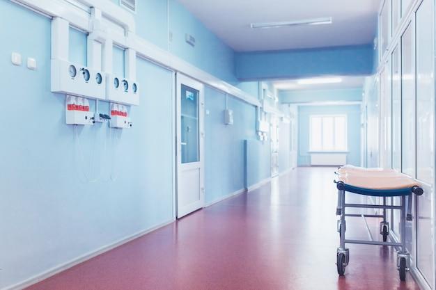 Concept Médical. Couloir D'hôpital Avec Chambres. | Photo ...