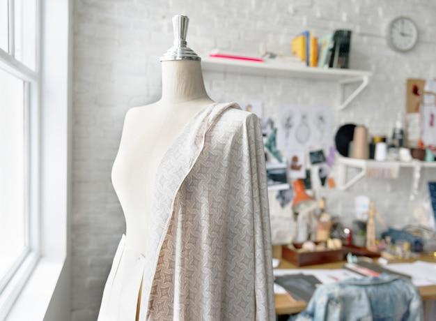 Concept de mesure de mannequin design de mode Photo Premium