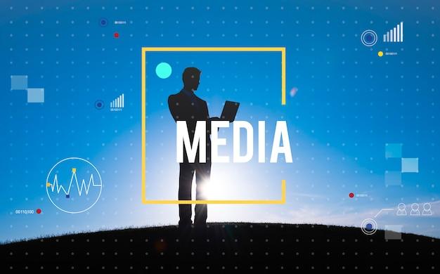 Concept de mise en réseau de technologie de communication numérique Photo gratuit