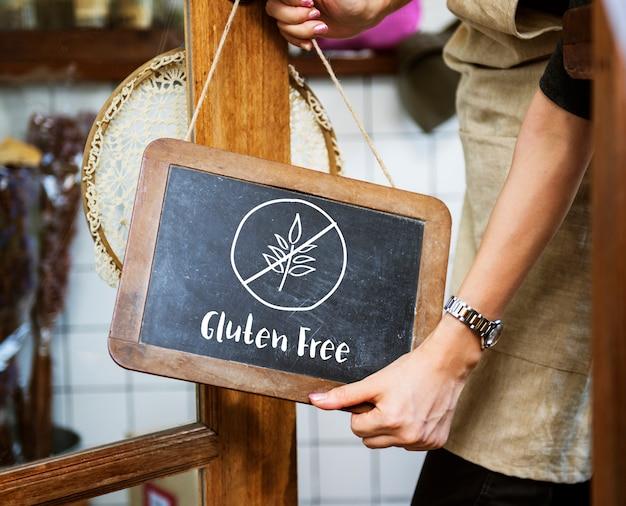 Concept de mode de vie sain sans gluten Photo Premium