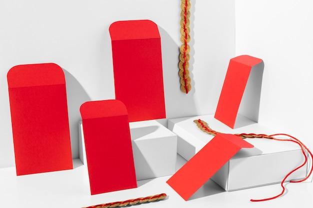 Concept De Nouvel An Chinois Dans Un Style Isométrique Photo gratuit