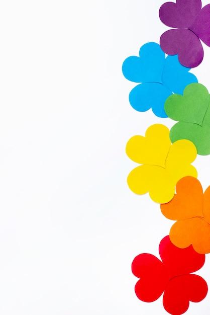 Concept D'origami Fleur Plate Pour Le Jour De La Fierté Photo gratuit
