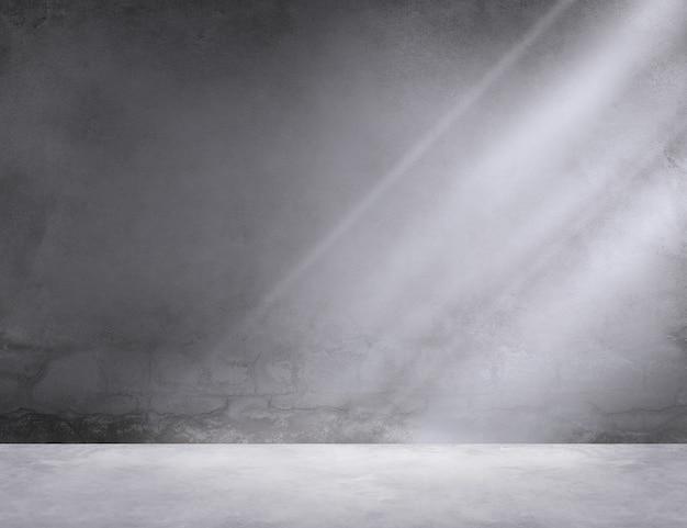 Concept de papier peint d'ombre de la pièce de lumière d'angle de salle de béton Photo gratuit