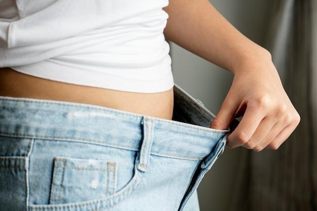 Concept de perte de poids et régime alimentaire femme asiatique Photo gratuit