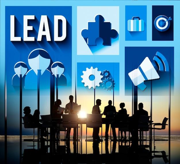 Concept principal de gestion du leadership mentor boss Photo gratuit
