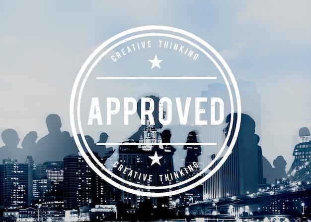 Concept de produit garanti de qualité authentique approuvé Photo gratuit