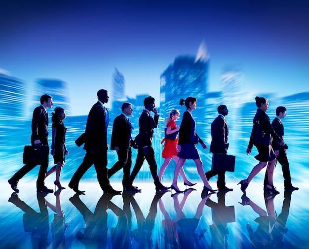 Concept professionnel de travail d'équipe équipe gens d'affaires collaboration Photo Premium