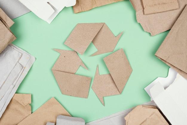 Concept De Recyclage à Plat Photo gratuit