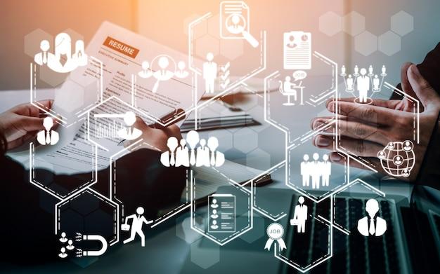Concept de réseau de ressources humaines et de personnes Photo Premium