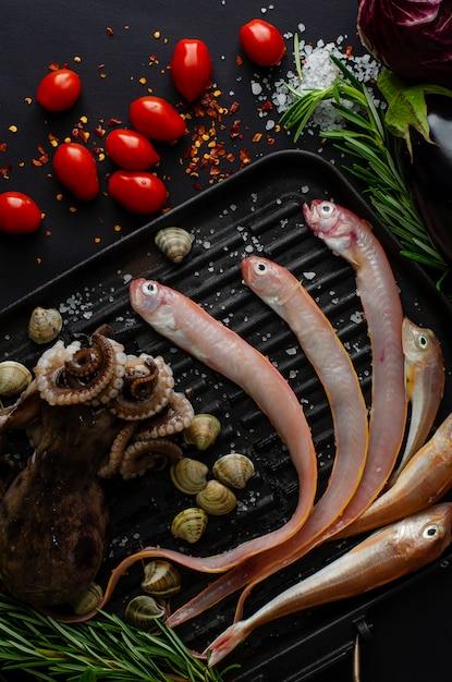 Concept de la saine alimentation. régime méditerranéen Photo Premium