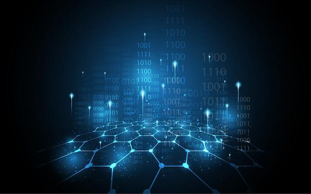 Concept de sécurité numérique cyber fond abstrait de la technologie Photo Premium