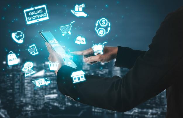 Concept De Technologie D'achat En Ligne Photo Premium