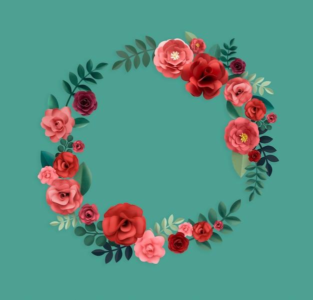 Concept De Texture Florale Motif Rose Photo Premium