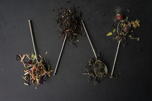 Concept De Thé Floral Photo Premium
