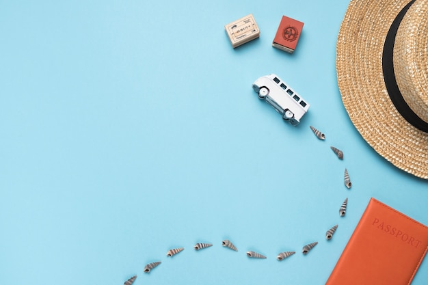 Concept touristique en bus Photo gratuit
