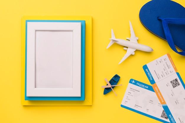Concept De Vacances Avec Cadres Photo Photo gratuit