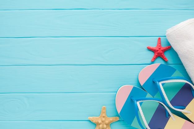 Concept De Vacances D'été Plat Lapointe Avec Espace De Copie Photo gratuit