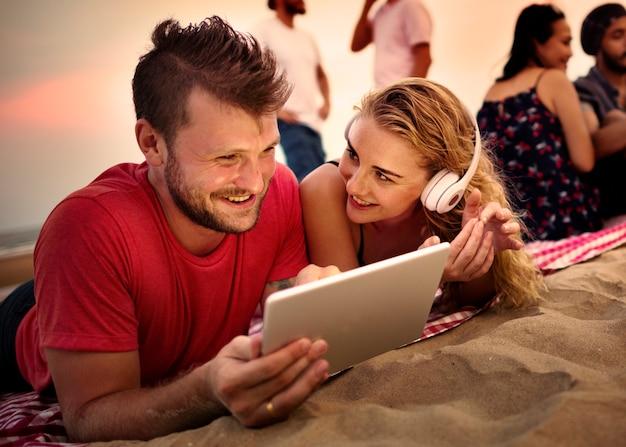 Concept de vacances de vacances summer beach friendship Photo gratuit
