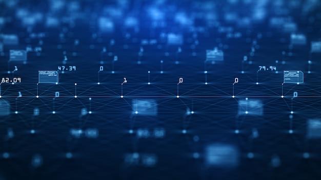 Concept de visualisation de données volumineuses Photo Premium