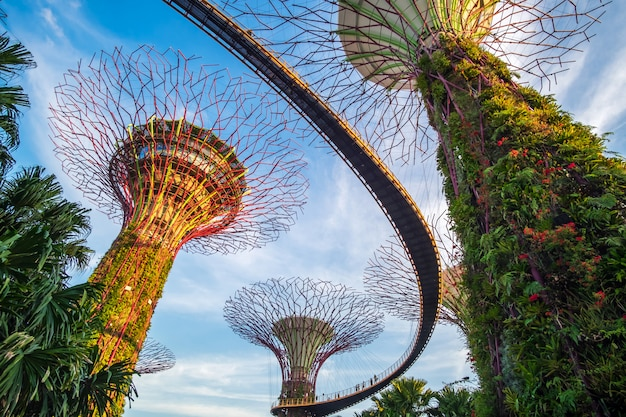 Concept de voyage de singapour Photo Premium