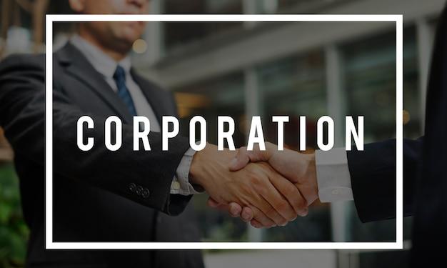 Concept word de collaboration entre coopératives Photo gratuit