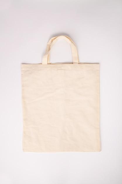 Concept zéro déchet. sac en coton écologique Photo Premium