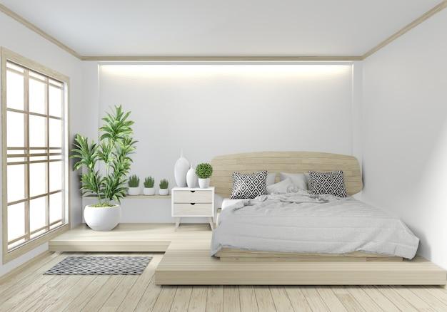 Conception japonaise de zen japonais de chambre à coucher de ...