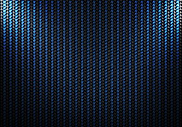 Conception matérielle abstraite de fibre de carbone noir bleu Photo Premium