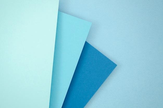 Conception De Papier Polygone Pile Bleue Photo gratuit