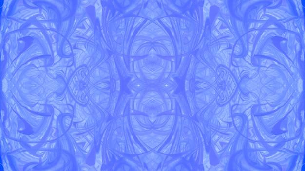 Conception de surface abstraite texture marbrée bleu symétrique Photo gratuit