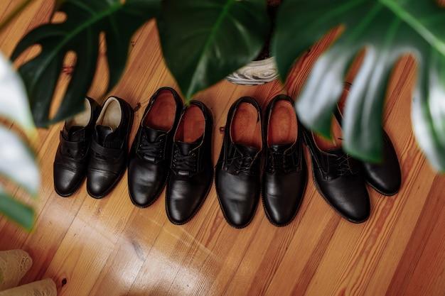 Concepts de chaussures pour hommes Photo Premium
