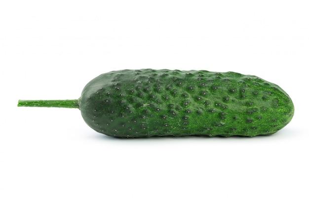 Concombre isolé sur blanc Photo Premium
