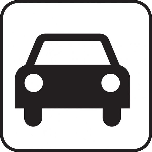Conduite automobile voiture motorisée signe symbole icône Photo gratuit
