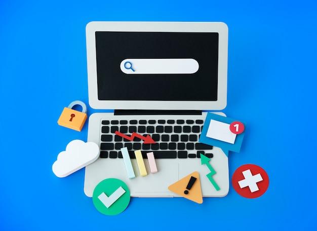 Connexion numérique internet concept de réseau numérique Photo Premium