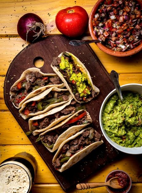 Conseil taco, vue de dessus Photo Premium