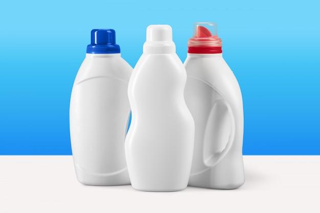 Contenants de détergent liquide en plastique Photo Premium
