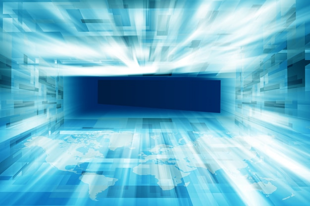 Contexte de haute technologie de studio de nouvelles inclus Photo Premium