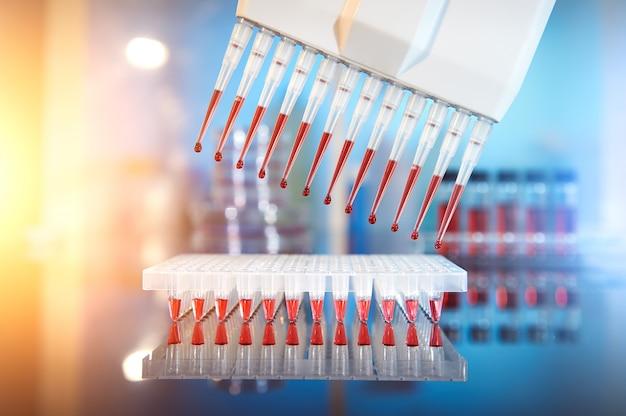 Contexte scientifique, séquençage et amplification de l'adn Photo Premium