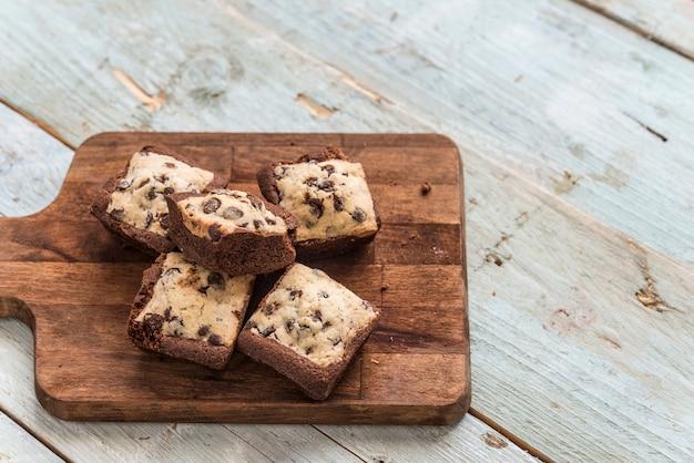 Cookie au chocolat fait à la main Photo Premium